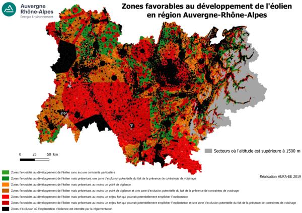 Zones favorables au développement de l'éolien